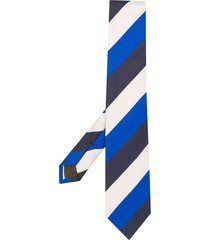 church's striped pointed tip tie - blue