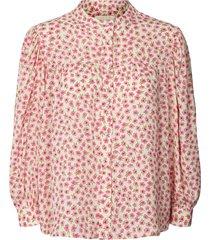 blouse met bloemenprint frankie  roze