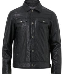 skinnjacka adrian buttoned leather jacket