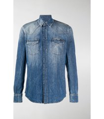 dolce & gabbana denim long-sleeve shirt