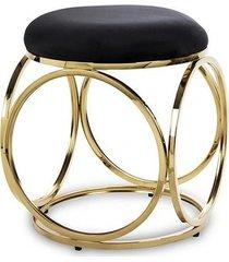 stołek pufa welwetowa anillo złota
