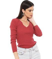 sweater io rosa - calce ajustado