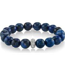 women's sheryl lowe dumoriterite bracelet with pave diamond