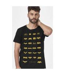 camiseta batman 80 anos logos collection masculina