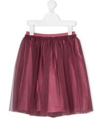 il gufo tulle overlay skirt - pink