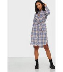pieces pcfira ls midi shirt dress d2d loose fit dresses