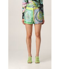 versace short versace printed silk shorts