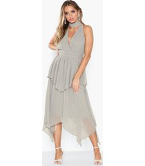 u collection midi wrap dress loose fit