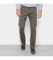 calça sarja slim forum paul masculina