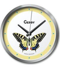 zegar ścienny motyl, żółty, owady