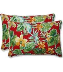 pillow perfect beachcrest poppy over-sized rectangular throw pillow, set of 2