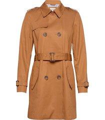 coats woven trenchcoat lange jas bruin esprit casual
