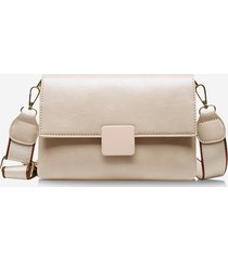 rectangle wide strap cover crossbody bag