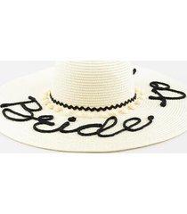 bride to be floppy hat - ivory