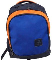 morral fe style creative para hombre - naranja, azul y negro
