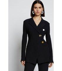 proenza schouler textured suiting blazer black 10