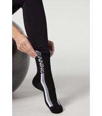 calzedonia active sport ankle socks woman black size tu