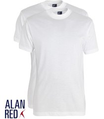 alan red 2-pack t-shirts virginia ronde hals wit