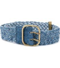 philosophy di lorenzo serafini braided denim belt - blue