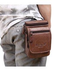 vera pelle vita multifunzionale in vacchetta borsa mini tracolla borsa