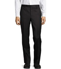 saks fifth avenue made in italy men's italian structured wool pants - charcoal - size 56(40)
