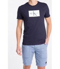 camiseta mc regular logo meia rolo gc - azul marinho - gg