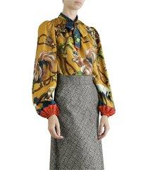 silk top with animal print