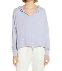 women's lou & grey signature soft hoodie, size x-small - blue