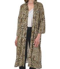 kimono leopardo de nagoya café guinda