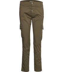 cargo cotton byxa med raka ben grön please jeans