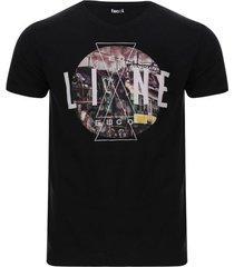 camiseta hombre line color negro, talla s