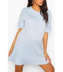 maternity tunic dress, blue