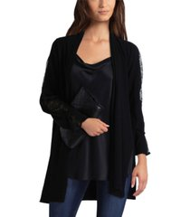 women's lace mix sweater cardigan