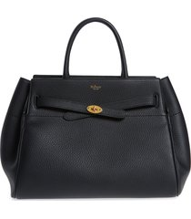 mulberry belted bayswater grained leather satchel -