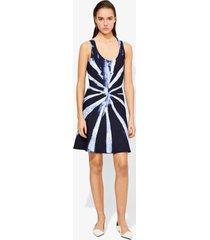 proenza schouler tie dye knit dress dark indigo/white/blue l