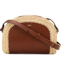 a.p.c. demi-lune crossbody bag - brown