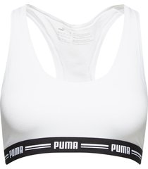 puma iconic racer back bra 1p lingerie bras & tops soft bras vit puma