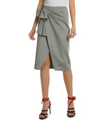 off-white women's jersey wrap skirt - light grey - size 40 (4)