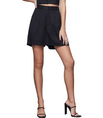 women's good american drapey trouser shorts, size 2 - black