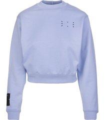 mcq alexander mcqueen lilac patch-detail sweatshirt woman
