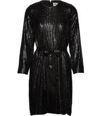 britta sequin dress jurk knielengte zwart twist & tango