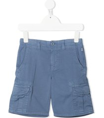 il gufo multi-pocket bermuda shorts - blue