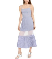 ax armani exchange striped pleated dress