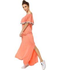 vestido coral vindaloo