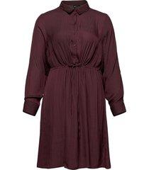 dress collar plus buttons knälång klänning röd zizzi
