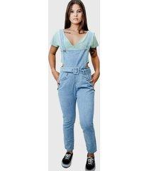 jardineira lilita jeans clara - jeans - feminino - dafiti