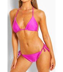 mix & match triangle bikini top, purple
