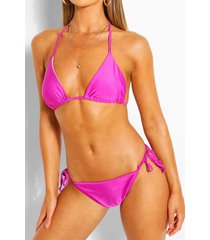 mix & match triangle bikini top, purple