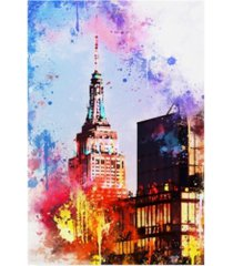"""philippe hugonnard nyc watercolor collection - at the top of the empire canvas art - 27"""" x 33.5"""""""