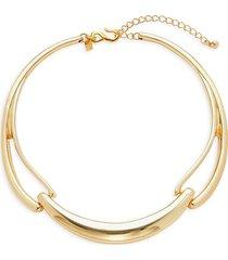 kenneth jay lane women's 18k goldplated choker necklace